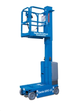 Rental store for 12  ELECTRIC VERTICAL MAST LIFT RUNABOUT in Salinas CA