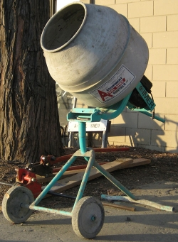 Used Equipment Sales 2 1 2  CU FT TRIPOD ELEC CONCRETE MIXER in Salinas CA