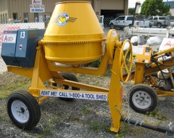 Used Equipment Sales 9 CU FT TOWABLE GAS CONCRETE MIXER in Salinas CA